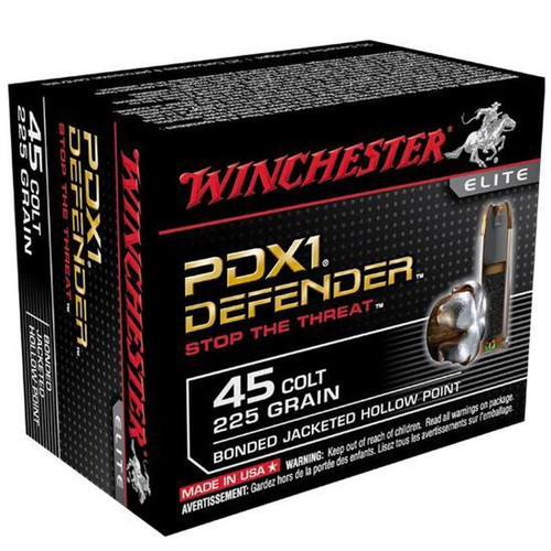 Winchester PDX1 .45 LC 225 GR Bonded JHP 20 Rounds