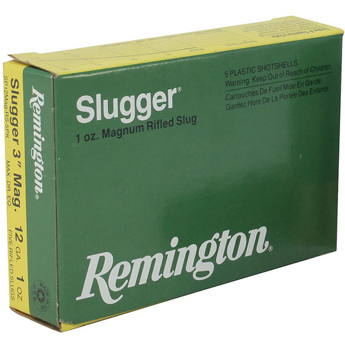 "Remington 12 Gauge 3"" 1 Oz Rifled Slug 5 Rounds"