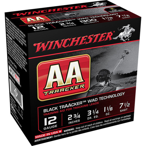 "Winchester USA AA TrAAcker 12 Gauge Ammo 2-3/4"" #7.5 Lead Shot 1-1/8 oz 1300 fps 25 Rounds"
