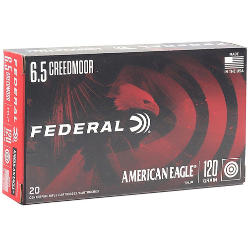 Federal American Eagle 6.5 Creedmoor Ammo 120 Grain TMJ 20 Rounds