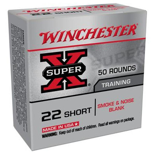 Winchester Ammo Super-X 22 Caliber Smoke & Noise Blanks 50 Rounds