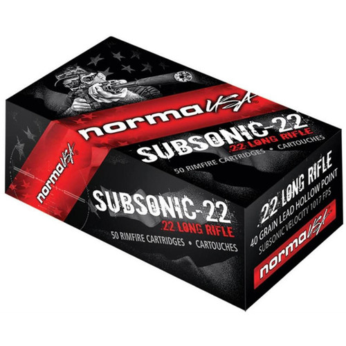 Norma Subsonic 22 LR 40GR HP High Performance Target 50 Rounds