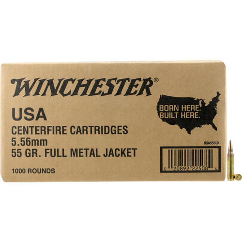 Winchester Lake City 5.56 NATO Ammo 55GR FMJ 1000 Rounds