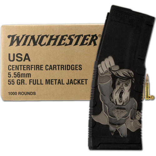 Winchester Lake City 5.56 FMJ 1000 Rounds with 30 Round Super Trump Mag Combo