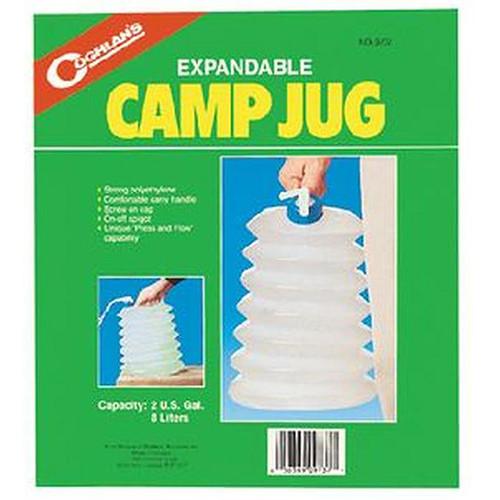 Coghlan's 9737 Expandable Camp Jug, 2 Gal Capacity, Polyethylene