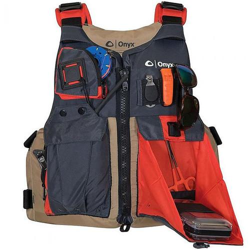 Onyx Kayak Fishing Vest Adult Oversize 121700-706-005-17 Tan