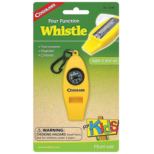 Coghlans Kids 4 Function Whistle - Yellow