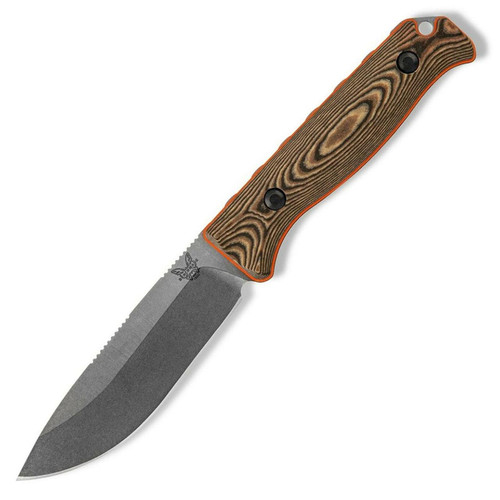 Benchmade Saddle Mountain Skinner Richlite W/ Orange G-10 Handle