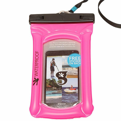 Float Phone Dry Bag - Neon Pink