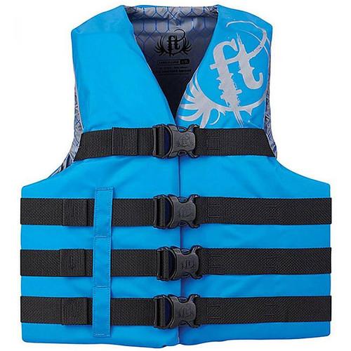 Full Throttle Adult Nylon Watersports Vest 112200-500-110-19 Blue 4Xl