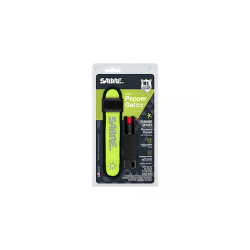 Sabre 2-In-1 Pepper Gel With Led Armband Runner Series