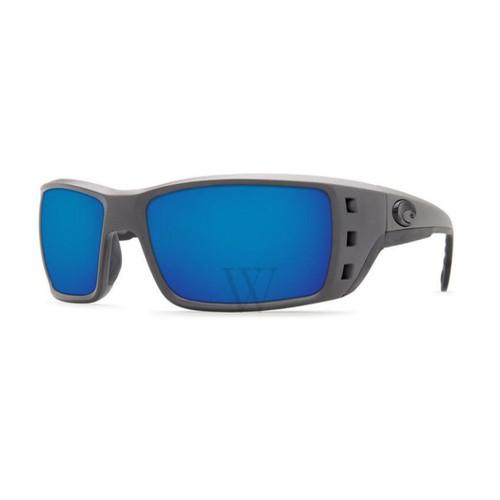Costa Del Mar Permit 61.7 MM Blue Mirror Matte Gray Sunglasses