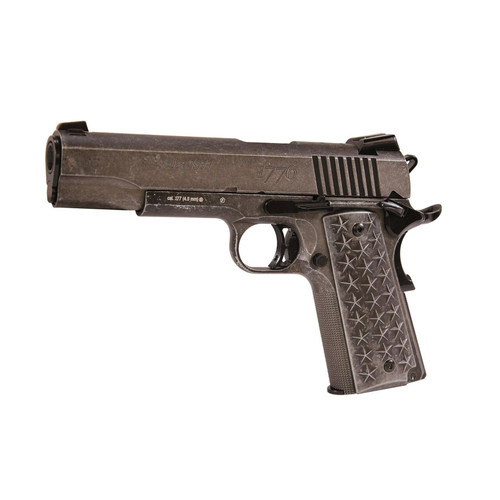 Sig Sauer 1911 We The People Air Gun Distressed Stainless .177 17Rds Air