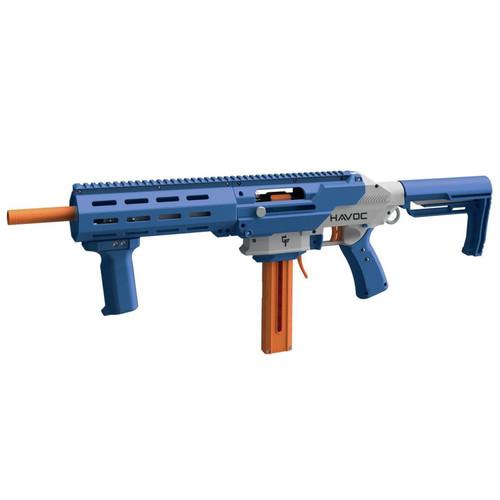 Game Face Havoc Prime Spring Powered Foam Dart Blaster-Blue