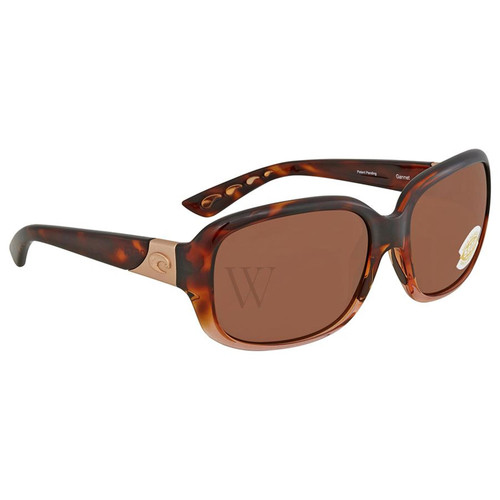 Costa Del Mar Gannet 57.9 MM Shiny Tortoise Sunglasses