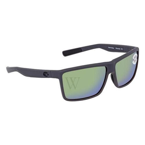 Costa Del Mar Polarized Green Mirror Rectangular Sunglasses Ric 580