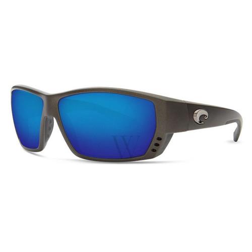 Costa Del Mar Tuna Alley Polarized Blue Mirror Glass Sport Sunglasses 580