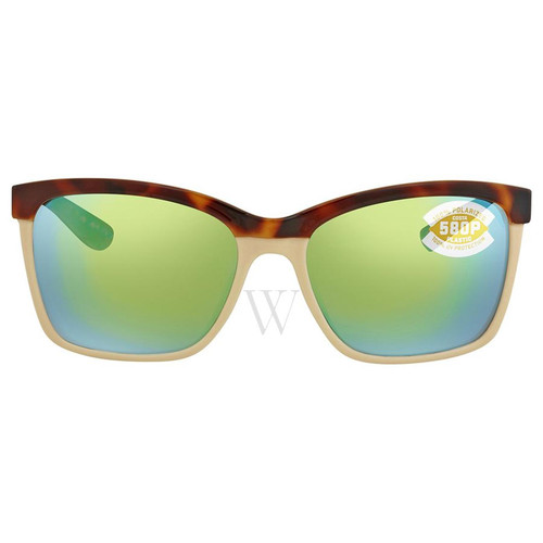 Costa Del Mar Anaa 55 MM Shiny Tortoise/Cream Sunglasses
