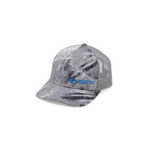 Costa Fishing Camo Trucker Gray Hat