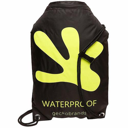 Drawstring Waterproof Backpack - Black/Neon Green