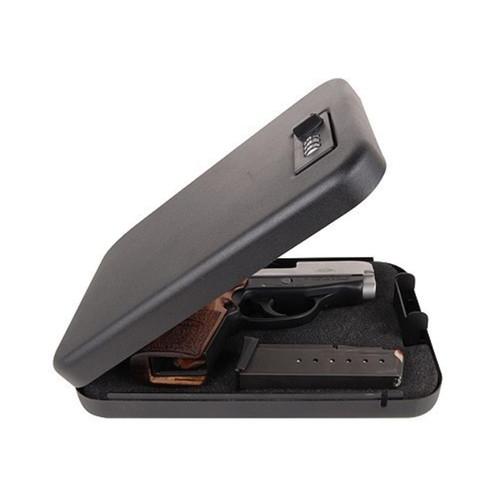 "Secure-It Combination Lock Large Pistol Security Box 9-1/2"" X 6-1/2"" X 1-3/4"" Steel Black"