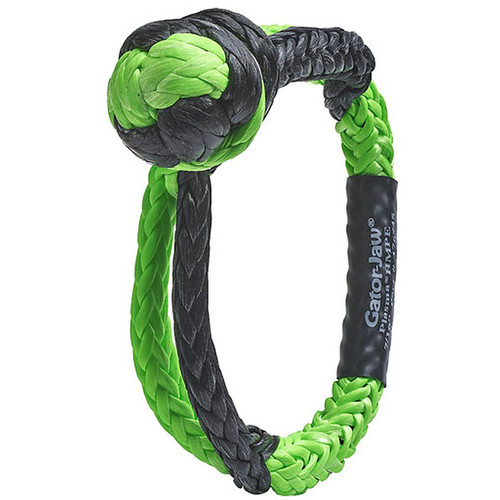 "BUBBA ROPE GATOR JAW 7/16"" SYNTHETIC SHACKLE BLACK/GREEN"