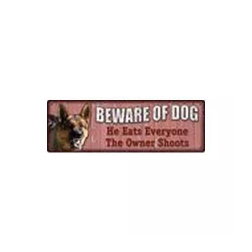 River's Edge Tin Sign-Beware of Dog