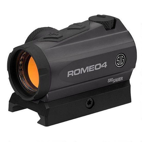 Sig Sauer Romeo4 Red Dot Optic 2 MOA Low Mount .50 MOA Adjustment