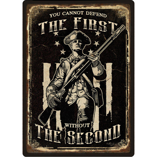 Rivers Edge Products Guardians of Constitution Tin Sign