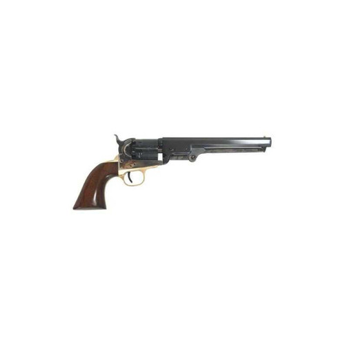 "Cimarron 1851 Navy Oval Percussion Revolver 36 Caliber 7.5"" Barrel Case Hardened Walnut Grip Standard Blue Finish CA000"