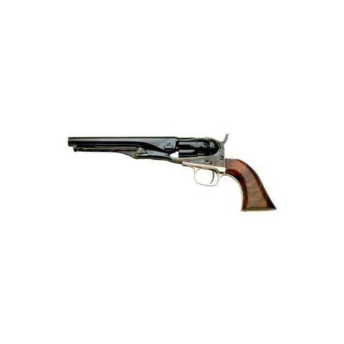 "Cimarron / Uberti 1862 Police Pocket Percussion Revolver 36 Caliber 5.5"" Barrel Case Hardened Brass T/G-B/S Walnut Grip Standard"