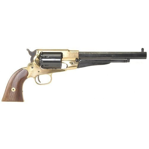"Pietta 1858 Remington Black Powder Revolver 44 Caliber 8"" Barrel Brass Frame Blue"