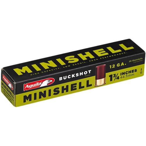 "Aguila MiniShells 12 GA 1-3/4"" Shell #4 and #1 Buckshot Combination 20 Rounds"