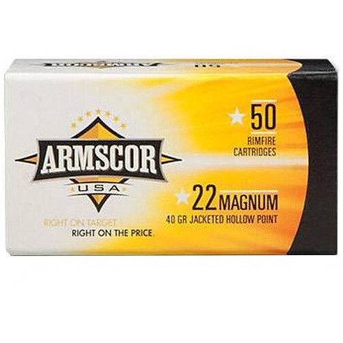Armscor 22 WMR 40GR JHP 50 Rounds