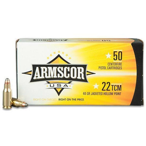 Armscor USA 22 TCM 40GR JHP 50 Rounds
