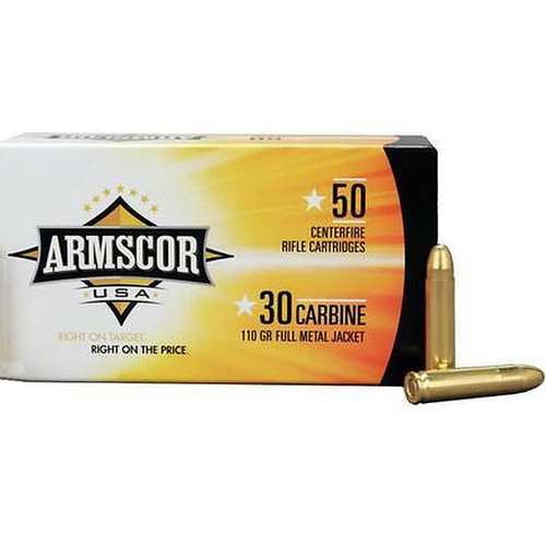 Armscor USA 30 Carbine FMJ 110GR 50 Rounds