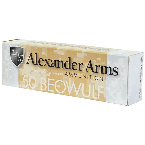 Alexander Arms 50 Beowulf 200GR Frangible Inceptor ARX 20 Rounds