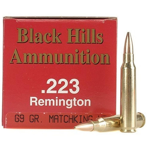 Black Hills 223 Remington 69GR Sierra MatchKing HP 50 Rounds