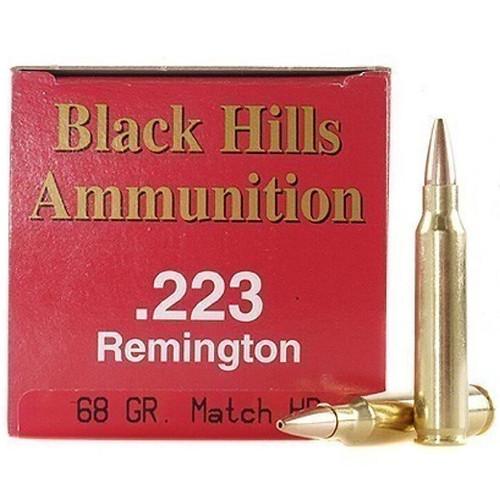 Black Hills 223 Remington 68GR Match HP Box of 50 Rounds
