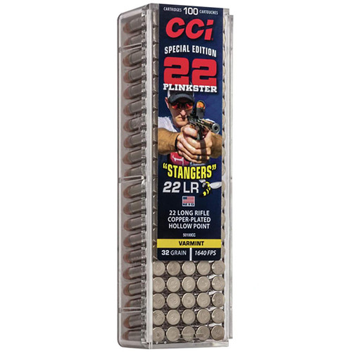 CCI Stinger 22 Plinkster Special Edition Stangers 22 LR 32GR Plated Lead HP 100 Rounds