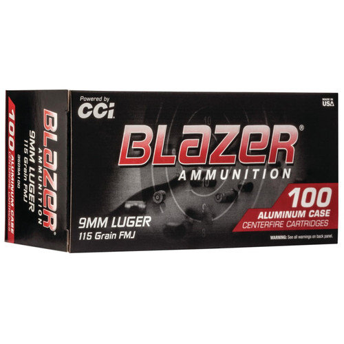 CCI Blazer 9mm Luger 115GR FMJ 100 Rounds