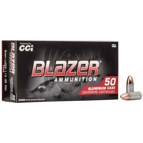 CCI Blazer 9mm Luger 115GR FMJ 200 Rounds
