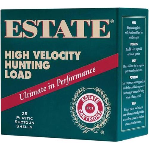"Estate Cartridge High Velocity Hunting Load 28 GA 2-3/4"" Shell #6 Lead Shot 3/4oz 25 Rounds"