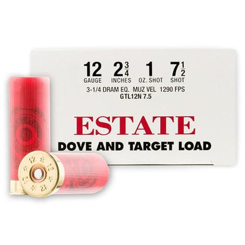 "Estate Cartridge Dove and Target Load 12 GA 2-3/4"" Lead Shot 1 oz - #7.5 25 Rounds"