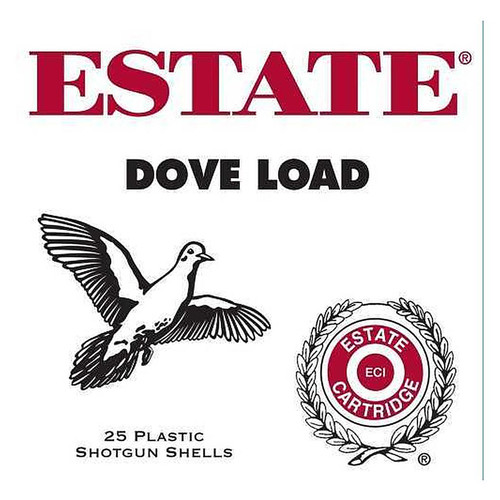"Estate Cartridge Dove and Target Load 12 GA 2 3/4"" Lead Shot 1 oz #8 25 Rounds"
