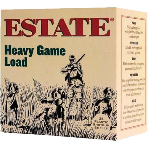 "Estate Cartridge Upland Hunting Load 20 GA 2-3/4"" Shell #6 Lead Shot 1oz 25 Rounds"