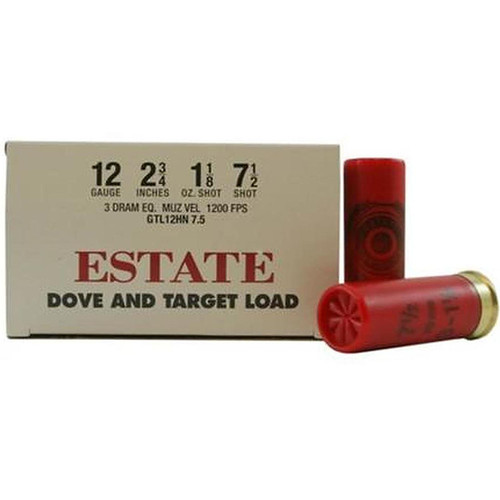 "Estate Cartridge Dove and Target Load 12GA 2 3/4"" 1-1/8oz 7-1/2 shot 25 Rounds"