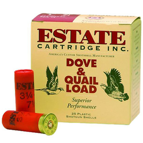 "Estate Cartridge Upland Hunting Loads 12GA 2-3/4"" 1-1/8oz #6 Lead Shot 250 Rounds"