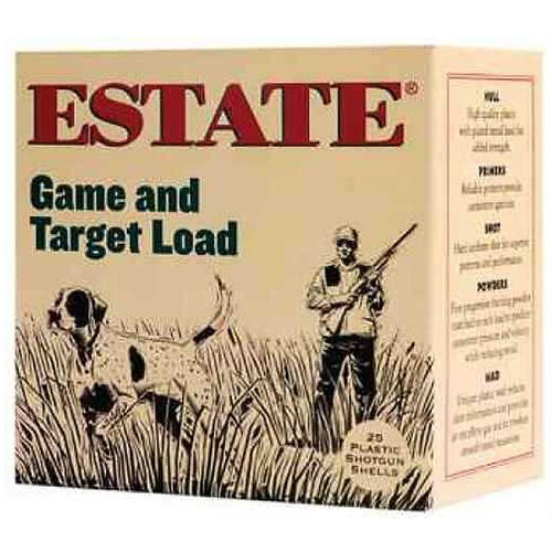 "Estate Cartridge Game & Target Load 20GA 2-3/4"" 7/8Oz #9 Lead Shot 25 Rounds"
