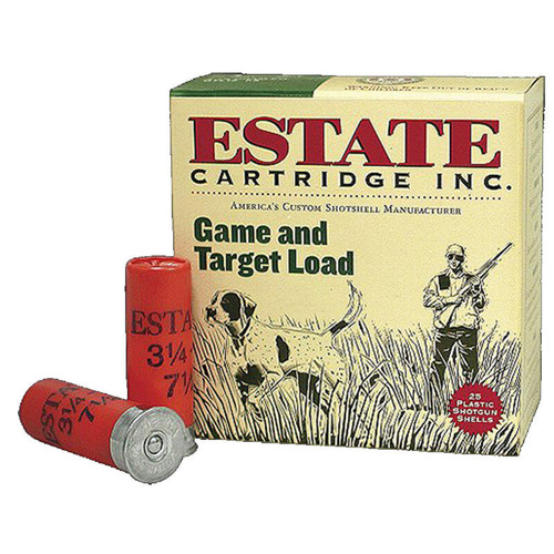 "Estate Cartridge Game & Target 20GA 2-3/4"" #7.5 7/8oz Lead Shot 25 Rounds"